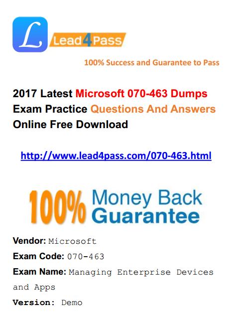 070-463 dumps